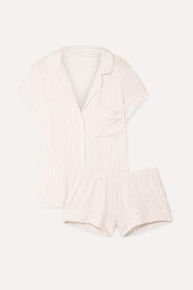 Eberjey Sleepy Striped Stretch-modal Jersey Pajama Set - Ivory