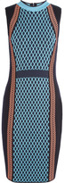 Versace Wool-blend Dress - Bright blue
