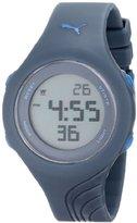 Puma Women's PU911092005 Twist S Petrol Blue Digital Display Quartz Grey Watch