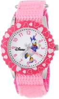 Disney Kids' W000146 Daisy Duck Stainless Steel Time Teacher Watch