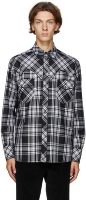Dolce & Gabbana Black and White Check Tartan Shirt