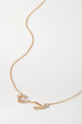 Sebastian Celestial Scorpio 10-karat Gold Diamond Necklace - one size