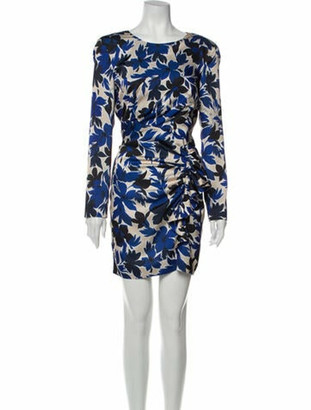 Boutique Moschino Floral Print Mini Dress Blue