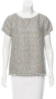 Sandro Short Sleeve Cropped Top