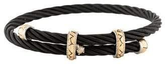 Charriol Two-Tone Diamond Cord Bracelet