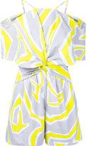 Emilio Pucci printed cold shoulder playsuit - women - Polyamide/Spandex/Elastane - 40