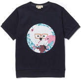 Unisex COCONUT DOG PATCH 1/2 SWEAT SHIRT NAVY