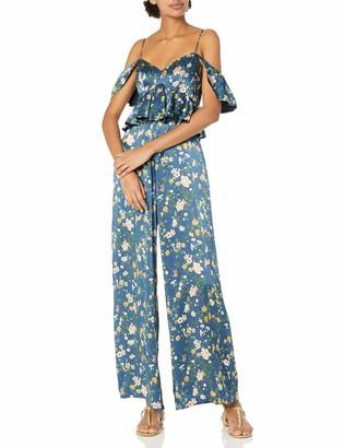 AMUR Women's Elizabeth Floral Silk Jumpsuit