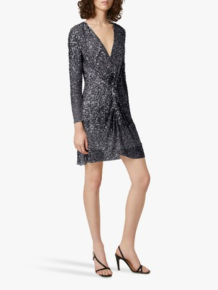 French Connection Emille Embellished Twist Front Mini Dress