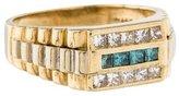 Ring 14K Three Row Diamond Band