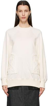Mame Kurogouchi Off-White Embroidered Oversized Sweatshirt