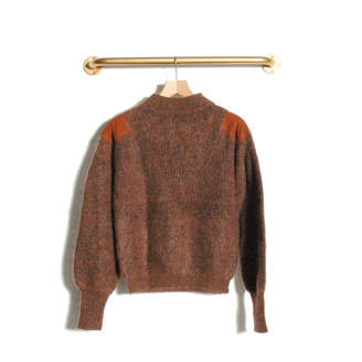 Le Mont Saint Michel - Samuelle half cardigan mohair sweater Brown - brown | Mohair | Size M - Brown/Brown
