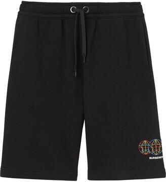 Burberry Logo-Print Drawstring Shorts