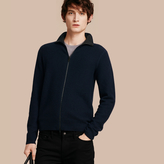 Burberry Zip Front Wool Cashmere Cardigan