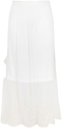 Paco Rabanne Lace Embroidered Midi Silk Skirt