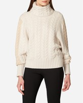 N.Peal Cable Batwing Cashmere Jumper