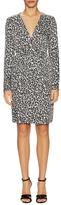 Love Moschino Printed Surplice Above The Knee Dress