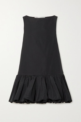 Valentino Cotton-blend Faille Mini Dress - Black