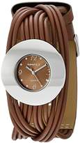 Nemesis Women's NS215B Brown Tangled Series Leather Band Analog Display Japanese Quartz Brown Watch
