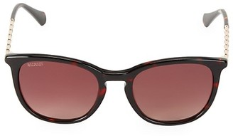 Balmain 51MM Square Tortoise Shell Sunglasses