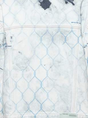 Off-White Off White distressed fence denim jacket