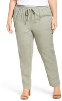 Caslon Linen Drawstring Pants (Plus Size)