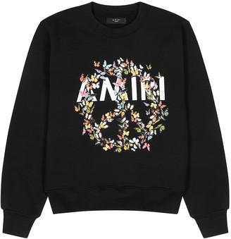 Amiri Black cotton-jersey sweatshirt