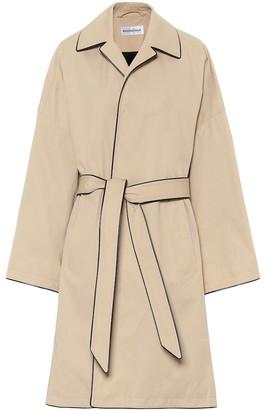 Balenciaga Belted cotton-twill coat