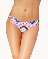 California Waves Juniors Under the Sun Printed Strappy Bikini Bottoms