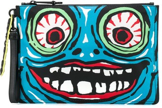 Moschino Monster clutch bag