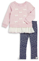 Little Lass Girls 2-6x Ribbon Accented Pullover and Leggings Set
