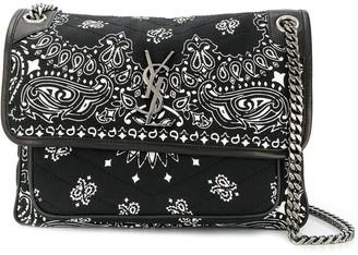 Saint Laurent medium Niki bandana print bag