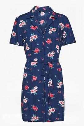 French Connection Clarette Floral Mini Shirt Dress