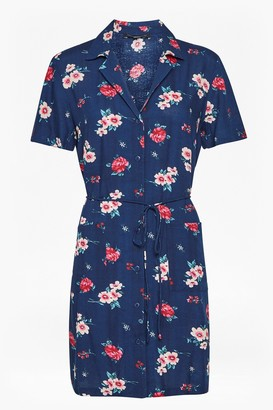 French Connection Clarette Floral Mini Shirt Dress