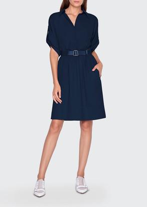 Akris Cotton Short-Sleeve Shirtdress