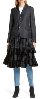 Comme des Garcons Tiered Ruffle Hem Jacket
