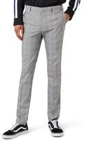 Topman Men's Check Ultra Skinny Fit Suit Trousers