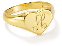 Argentovivo Signet Ring in 18K Gold-Plated Sterling Silver