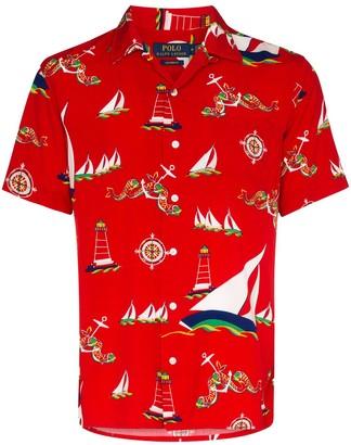 Polo Ralph Lauren Boat-Print Short-Sleeve Shirt