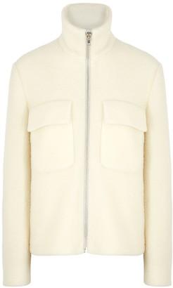 Helmut Lang Ivory brushed wool-blend felt jacket
