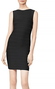 Herve Leger Icon Sleeveless Sheath Dress