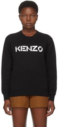 Kenzo Black Brushed Logo Sweatshirt