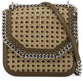 Stella McCartney Falabella Medium Box Wicker Satchel Bag, Beige