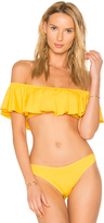 L-Space LSPACE X REVOLVE Hey Girl Ruffle Top Sunshine Gold