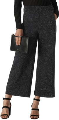 Whistles Metallic Wide Leg Ponte Trousers