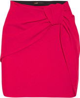 Maje Gathered crepe mini skirt