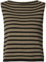 Vince striped tank top - women - Cotton/Polyamide - L
