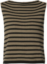 Vince striped tank top - women - Cotton/Polyamide - S