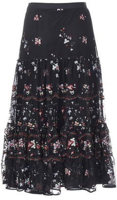 Tory Burch Embroidery Skirt