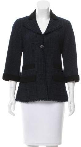 Chanel Metallic Wool Blazer